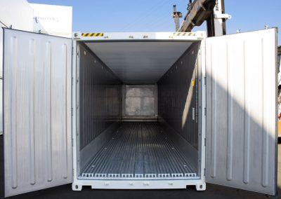 Kühlcontainer Innenseite Tür und Kühlraum